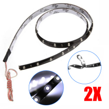 2pcs 60CM White LED SMD Lamp String Waterproof Flexible Soft Strip Car Light ALI88