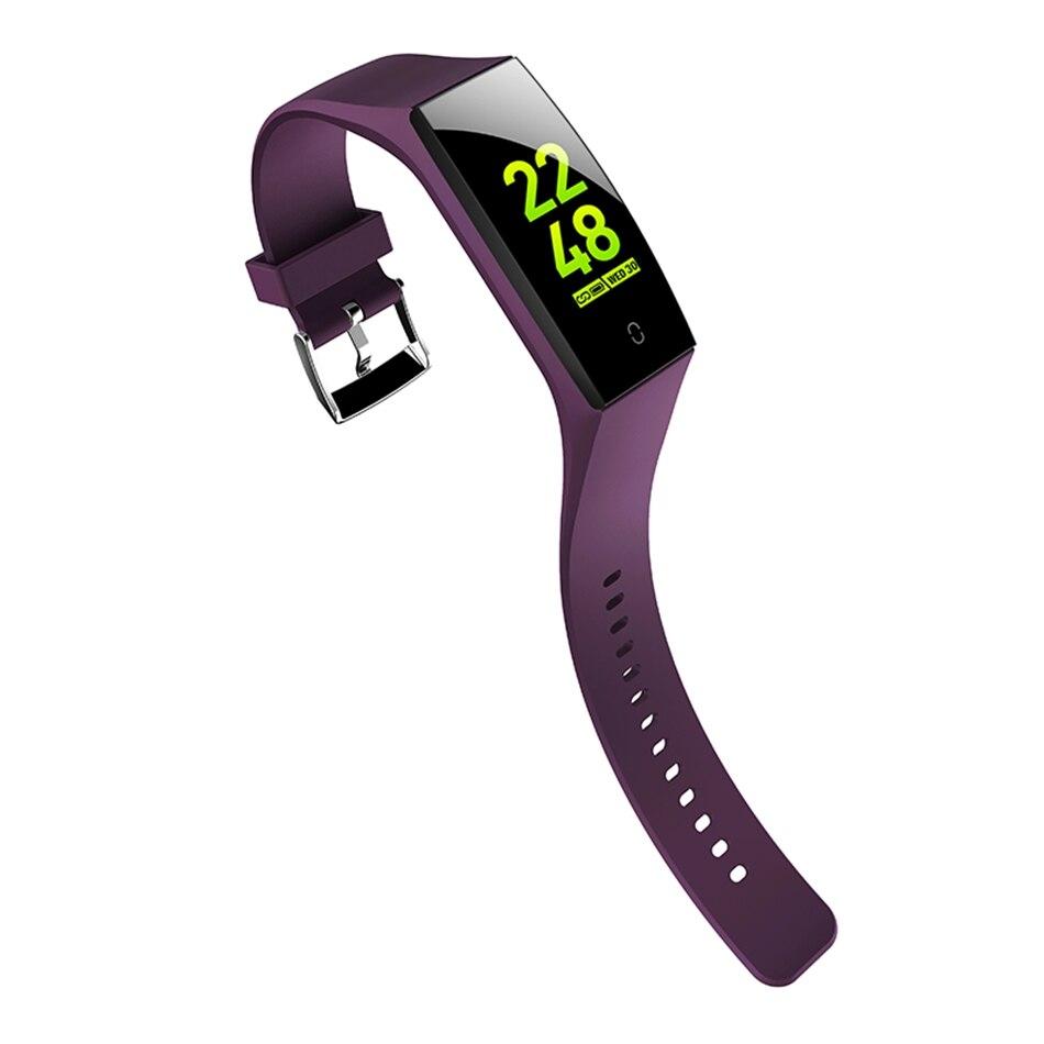 V18 Smart Band Men Women Wallpaper Change Color Display Wristband HR Blood  Pressure Female Period Monitor Smart Watch