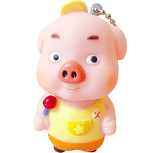 Mascot Keychain Cartoon Candy Pig Couple Bag Cute Key Chain Ring Pendant For Women