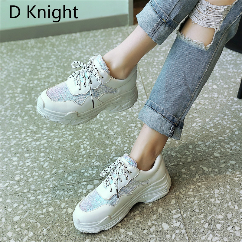 RLINF 2018 Spring Fashion Women Casual Shoes Suede Genuine Leather Platform  Women Sneakers Ladies Trainers Chaussure Femme 40faee133770
