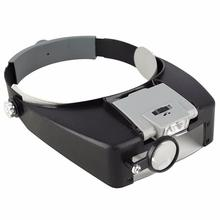 1.5x 3x 8.5x 10x Adjustable 4 Lens Loupe LED Light Headband Magnifying Glass Magnifier Tool With