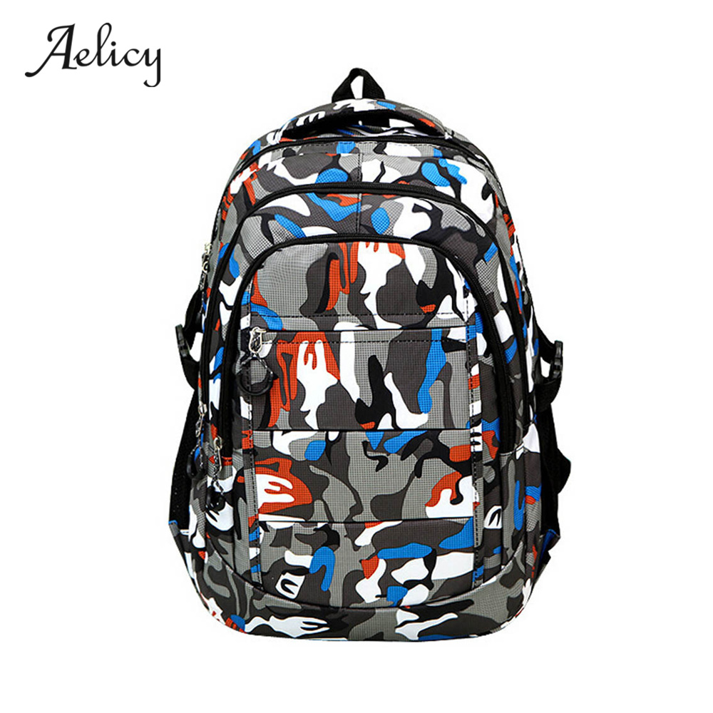 Aelicy 2018 New Nylon Camouflag School Backpack For Agers S Boys Casual Backpacks Preppy Style Waterproof Book Bag 0926