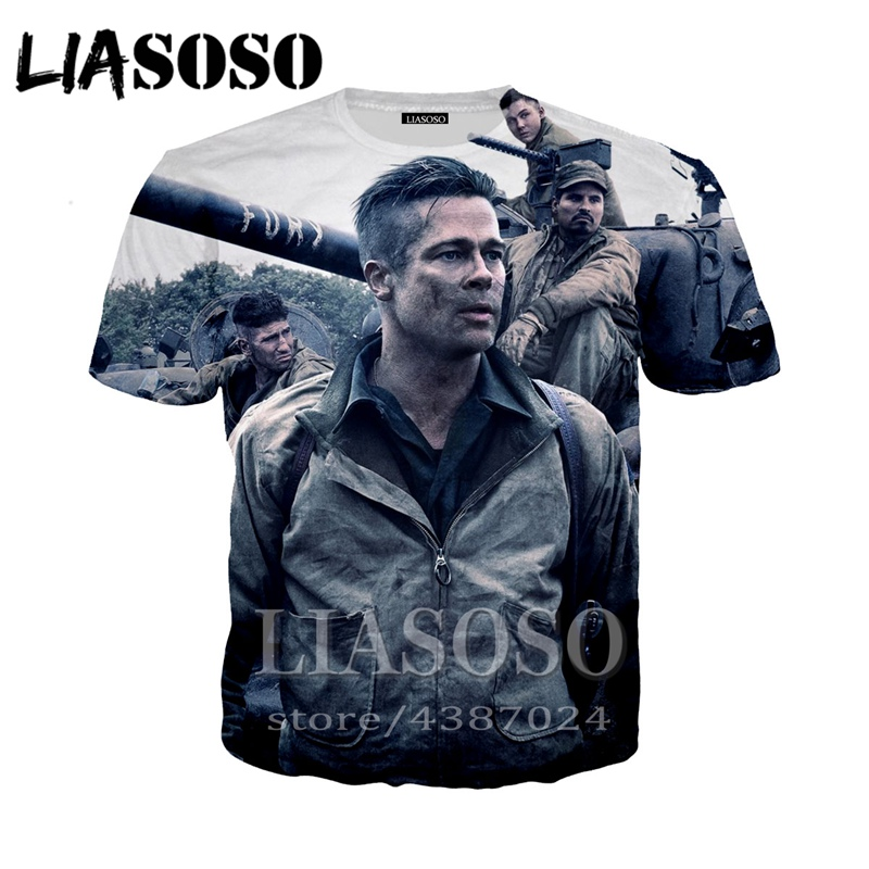 LIASOSO Fashion Brad Pitt 3d print t shirt Men Women t-shirt casual Movie star Harajuku Short sleeve Funny tees tops tshirt <font><b>D518</b></font> image