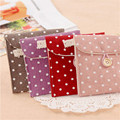 Cotton Linen Case Cosmetic Small Makeup Tool Bag Storage Pouch Purse Cosmetic Travel Bag 2017 New Dot Cute CX877251