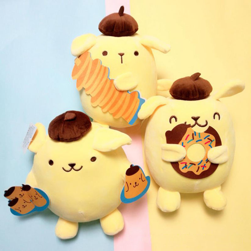 1 Pc Creative Lovely Cartoon Donuts Pudding Dog Stuffed Plush Doll Plush Toys For Kids Gift