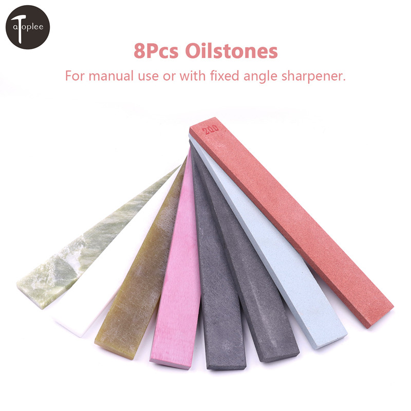 8Pcs 200#-10000# Grit Knife Sharpener Fine Stone Polishing Sharpening Whetstone Oilstone Sharpener Tool 150*20*5mm