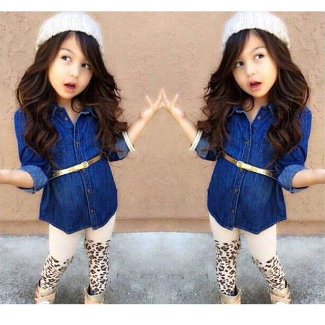 2016 Niños Ocasionales Del Deporte Traje de Moda Primavera Niños Niñas Ropa Set de Manga Larga 3 unids Ropa Niñas Establece Chica Cool trajes