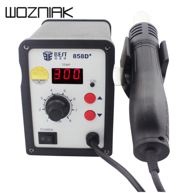 Lead screw type hot air gun bst 858d+ Accurate and stable temperature LED visual display Accurate and stable temperature LED все цены