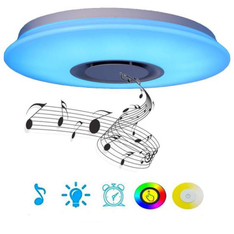 APP Remote Control RGB Bluetooth Color Changeable LED Music Spaeker Ceiling Lights  Acrylic Dimming LED Lamp 110V 220V BedroomAPP Remote Control RGB Bluetooth Color Changeable LED Music Spaeker Ceiling Lights  Acrylic Dimming LED Lamp 110V 220V Bedroom