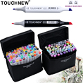 TOUCHNEW 30/40/60/80 Colors Marker Art Set Alcohol Based Manga Brush Drawing Professional Sketch Markers Pen Art Supplies