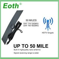 vhf uhf Eoth טלוויזיה דיגיטלית מקורה כונס אות HDTV אנטנה DTV Antena אנטנות חינם טלוויזיה פוקס אוויר DVB-T DVB-T2 Surf HD רדיוס VHF UHF (4)