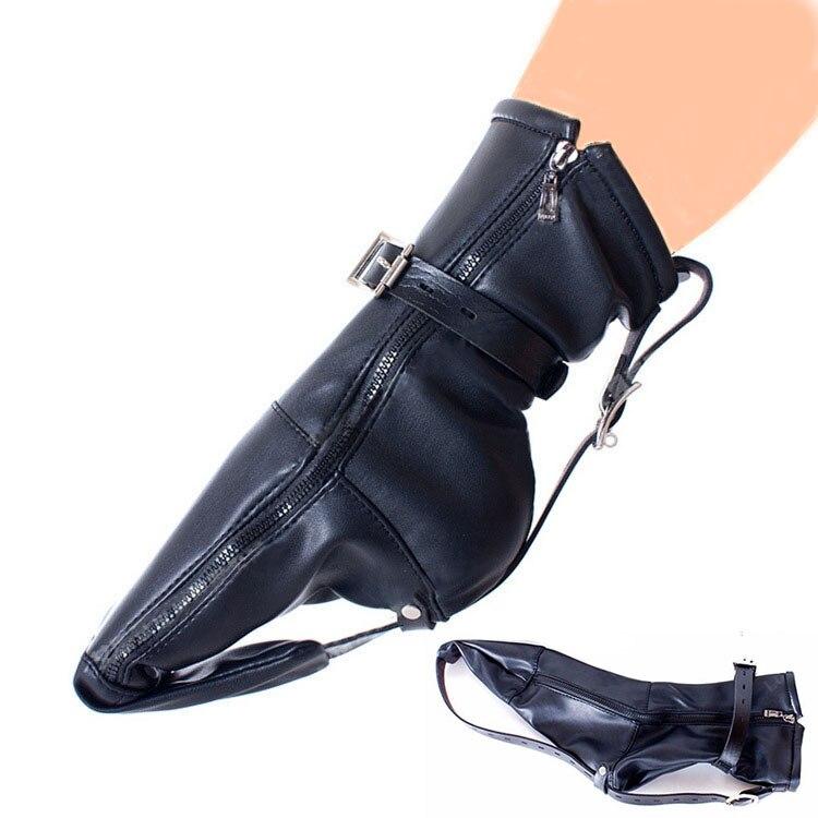 Arm Binder,Zipped Boot Restraint Straps,  Feet Foot Restraint Gimp Bootie Socks,Kinky BDSM Bondage,Forced To Crawl