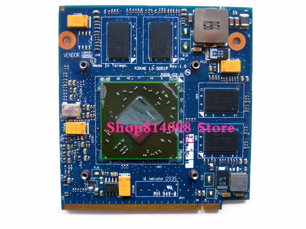 A500 L500 L550 VGA Video Card HD4650 M96 DDR3 1G ATI 216-0729042 KSKAE LS-5001P K00005001 MXM II 100% TESTED FULL hotlaptop 256m vga card ls 5001p for toshiba l500 motherboard