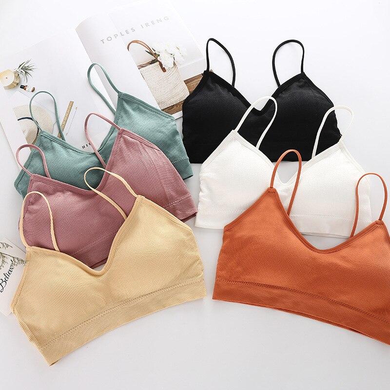 Women's Bra Sexy Underwear Female Casual Active Bra Ladies Push Up Brassiere Wire Free Fitness Running Bralette Intimates