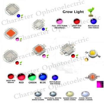 цена на Hydroponic LED Plant Grow light chip Full spectrum Royal Blue 450NM Deep Red 660NM Ultraviolet led1W 3W 5W 10W 20W 30W 50W 100W