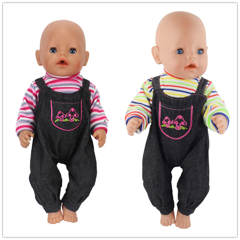 2style Choose Jumpsuits Doll Clothes Wear Fit 43cm Baby New Born Doll Children Best Birthday Little Gift