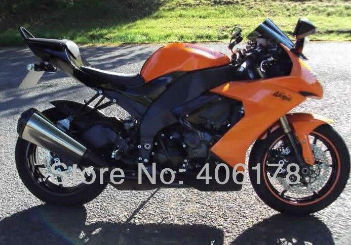 US $469 0 |Hot Sales,ZX 10R 08 09 10 For Kawasaki Ninja ZX10R 2008 2010  Orange Sports Bike Bodyworks Motorcycle Fairing (Injection molding)-in  Covers