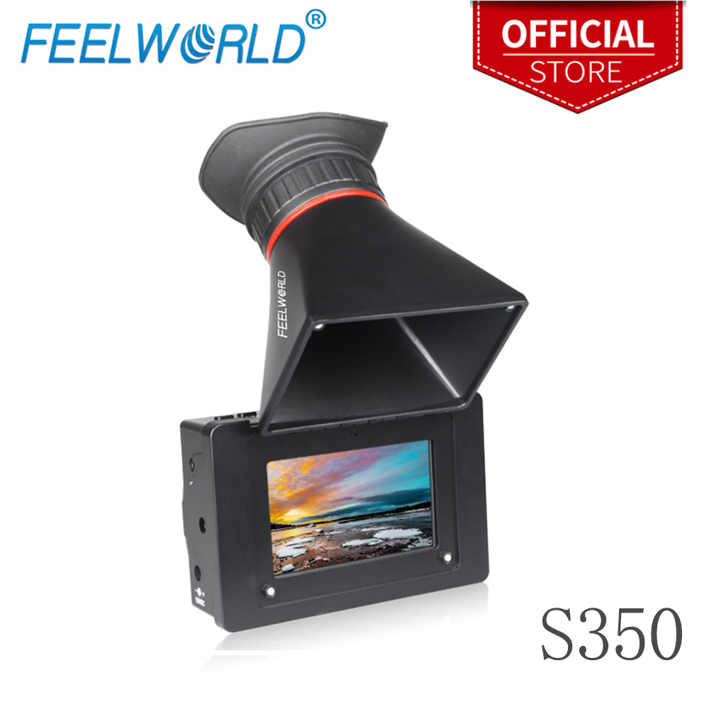 Feelworld S350 3 5 Inch EVF 3G SDI HDMI Electronic View Finder 3 5 Camera External