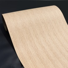 Length: 2.5Meters  Thickness:0.3mm  Width: 55cm Technological Red Oak Straight Line  Wood Veneer Kraft Paper Composite Veneer