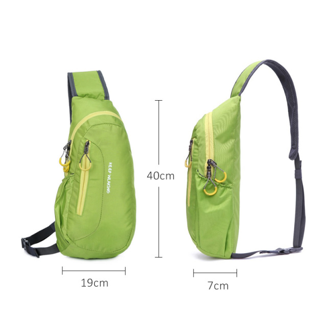 Hot Brand New Unisex Waterproof Nylon Chest Bag Men Women Running Shoulder Bag Diagonal Outdoor Sports Gym Bag sacs de course 1