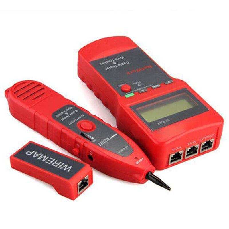NF-8208 Ethernet LAN réseau testeur de câble détecteur Inspection Cat5e Cat6e RJ45 fil Tracker diagnostiquer tonalité longueur Scanner