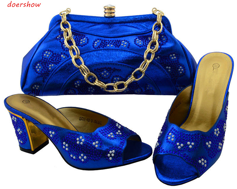 doershow Italian Shoes with Matching bags For party african Shoes And Bags to match set /ladies matching shoe and bag BCH1-67 italian shoes with matching bag new design african pumps shoe heels fashion shoes and bag set to matching for party gf25