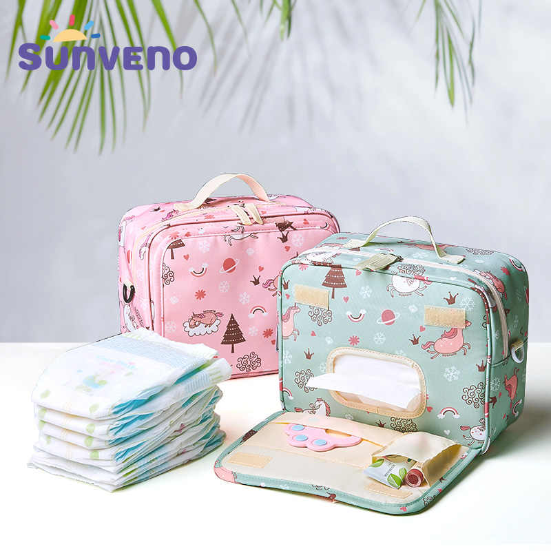 SUNVENO Fashion Wet Bag Waterproof Diaper Bag Washable Cloth Diaper Baby Bag Reusable Wet Bags 23x18cm Organizer For Mom