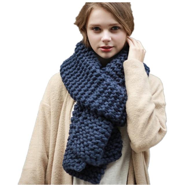 659e89772d24 905.24 руб. 29% СКИДКА|Новый Высокое качество Толстые теплые вязаные шарфы  для женщин ...