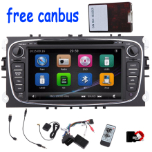 цена на 7'' 2 Din In-Dash Car DVD Player For Ford Mondeo With BT,Navigation GPS,IPOD,Car Stereo with bluetooth Hands free phone calling