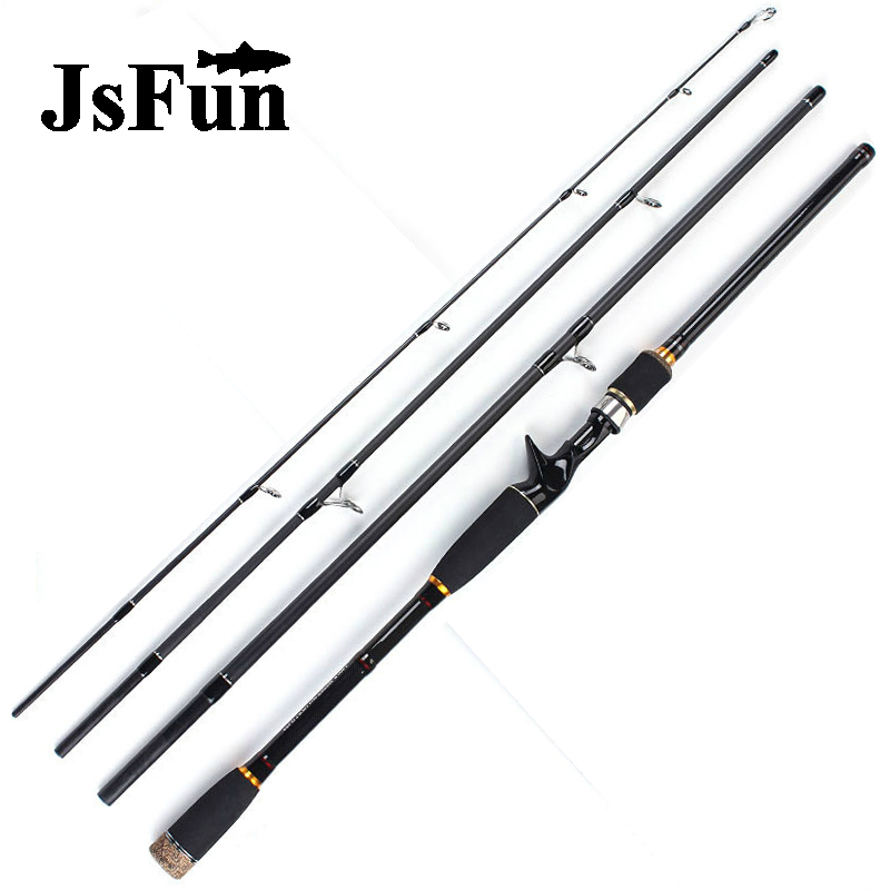 JSFUN 1.8 2.1 2.4 2.7 3.0m Lure Rod 4 Section Carbon Spinning Fishing Rod Travel Rod Casting Fishing Pole Vava De Pesca FG116