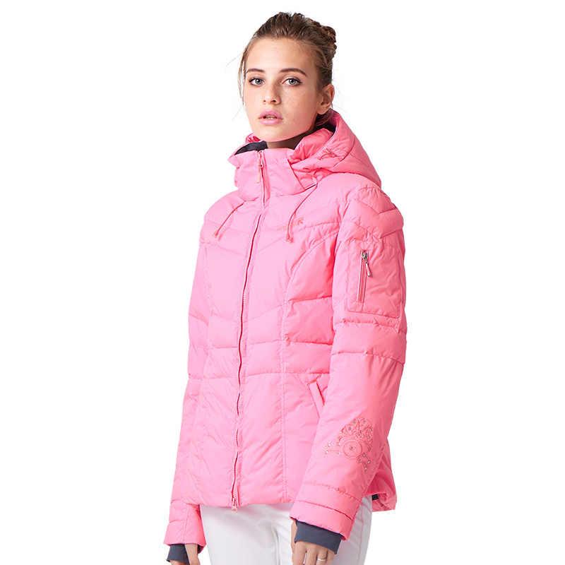 MENJALANKAN SUNGAI Perempuan Merek Ski Jaket Hot Sale Kualitas Tinggi Ski jaket Baru Kedatangan Wanita Setelan Ski Ski Salju Mantel Hangat # L4985