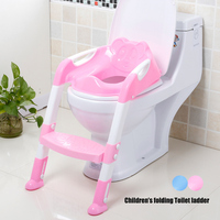 Folding Baby Potty Training Toilet Chair with Adjustable Ladder Portable Kids Infant Training Children Toilet Seat