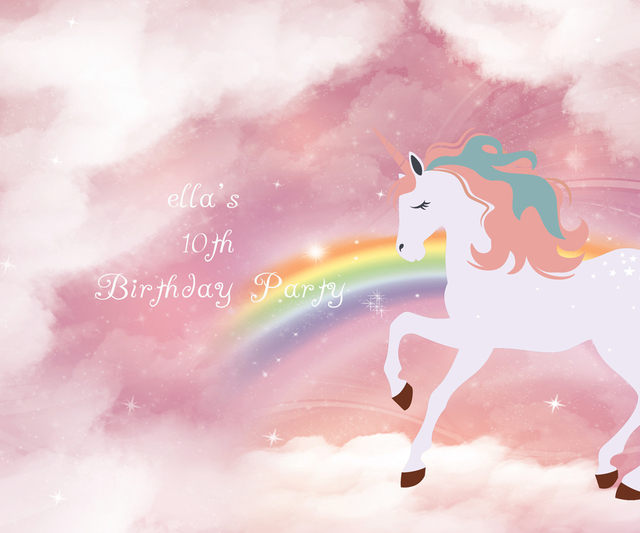 8a047a2cec7d4 HUAYI customized unicorn birthday backdrop photography backgrounds vinyl  wedding backdrop birthday party background W-335
