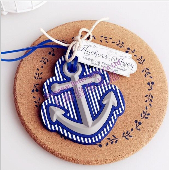 50 PCS/sets Beach Theme Anchor Luggage Tag wedding favor bridal shower party gift guest present favour