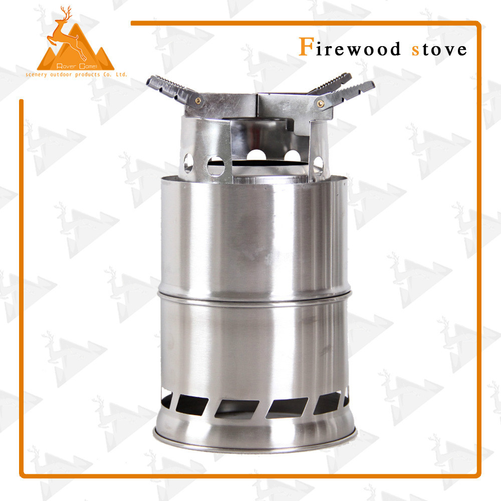 Heighten Rover Camel Portable Stainless Steel Lightweight Wood Stove Outdoor Picnic BBQ Camping Solidified Alcohol Stove
