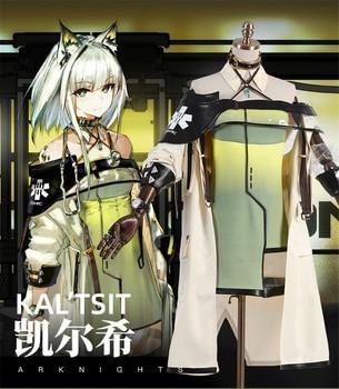 Game Arknights Kal'tsit Cosplay Costume Women Halloween Carnival Uniform Party Dress H