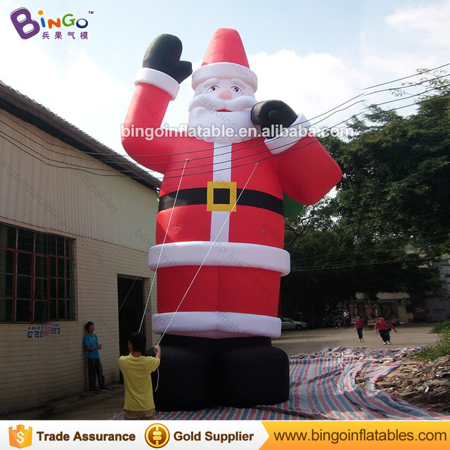 cb9db3a9388fa Free Delivery 8M high Big Inflatable Santa Claus Figure hot sale blow up  old man model with air blower For Chrismas Day toys
