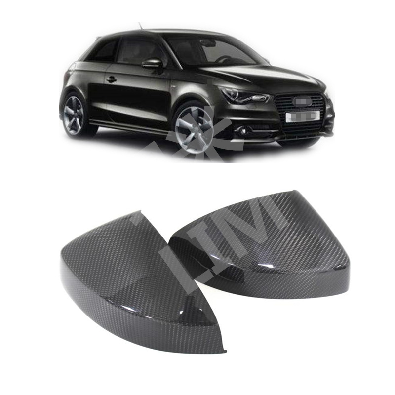 For AUDI A1 8X Sportback Hatchback 2010 Up Carbon Fiber Side Door Mirror Wing Mirror Cover Cap Sticker Car Styling Accessories