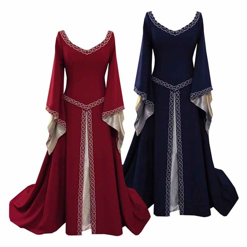 Brand Women's Red Blue Medieval Renaissance Victorian Dresses Medieval  Renaissance Costumes Ball Gown Ball Gowns Dresses
