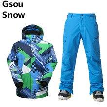 -30 Degree Snowboard Jacket Men Ski Suit Waterproof 10K Super Warmth Ski Pants Professional Mountain Skiing Snowboarding Sets