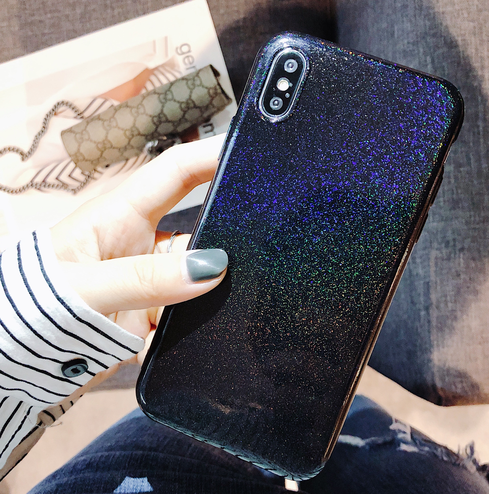 Bling Case For iPhone X10 Case 7 6 6S 8 Plus Coque Soft Silicone TPU Shiny Back Shell for Apple iPhone iPhone6Plus iPhone7plus
