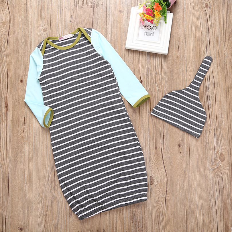 Cotton Baby Sleeping Bag Stripe Baby Sleepsack Autumn pijamas infantil menino Newborn Baby Sleep Sack Christmas Baby Sleepwear
