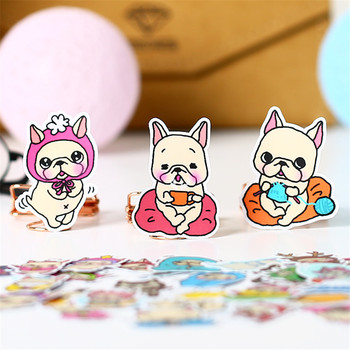 40 PCS Sprouting yellow pug Paper  Sealing Stickers Crafts And Scrapbooking book Decorative sticker DIY Stationery