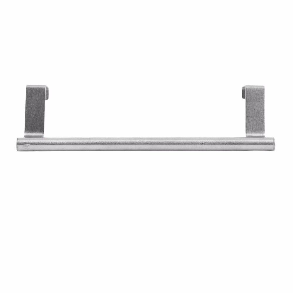 New Bathroom Door Kitchen Towel Over Holder Drawer Hook Storage Scarf Hanger Cabinet Hanging Stainless Steel Towel Rack