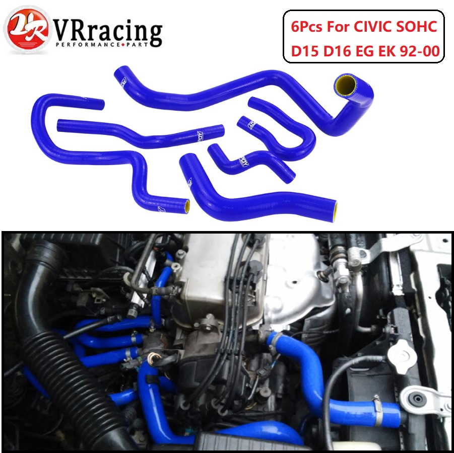 VR RACING - Blue & yellow Silicone Radiator Hose Kit for CIVIC SOHC D15 D16 EG EK 92-00 6pcs with PQY logo VR-LX1303C-QYVR RACING - Blue & yellow Silicone Radiator Hose Kit for CIVIC SOHC D15 D16 EG EK 92-00 6pcs with PQY logo VR-LX1303C-QY