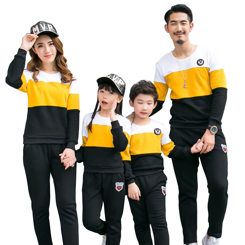 Family Clothing Outfits Girls Mommy Fashion Autumn New And Me Boy Cotton