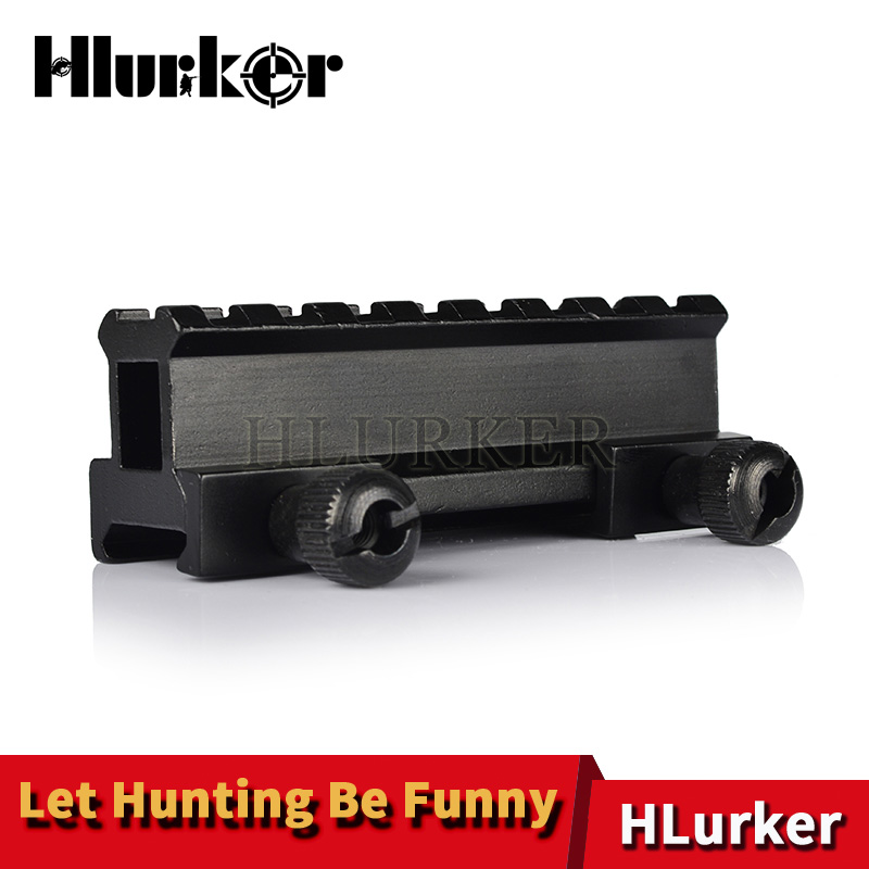 Hlurker 8 Slot Tactical Scope Riser Base Mount 20mm Rail System Picatinny Rail Adapte Rifle Scopes Mounts Rail For Rifle Airsoft