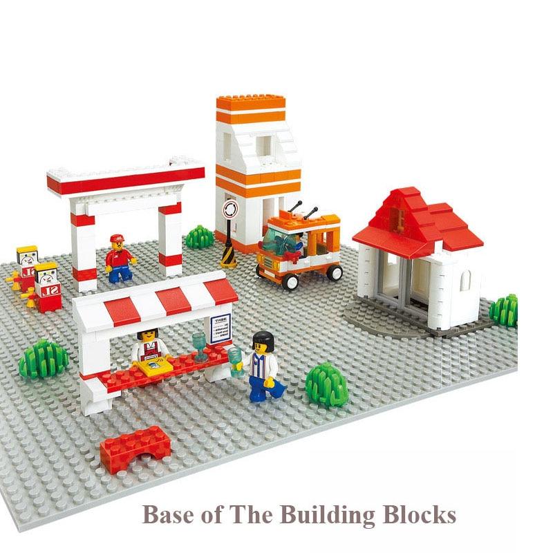 39.8 * 39.8CM celtniecības bloki Pamatplates mazās daļiņas Bloķē apbūves bloku pamatnes rotaļlietas ar daudzām saderīgām