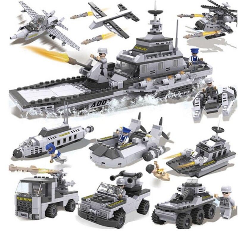 Blocks Ship 8 In 1 Building Blocks Compatible Legoe City Plastic Educational Toys For Children Walkie Talkie