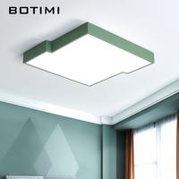BOTIMI Modern LED Ceiling Lights White Living Room Lamps Lamparas De Techo Metal Rectangal Home Light